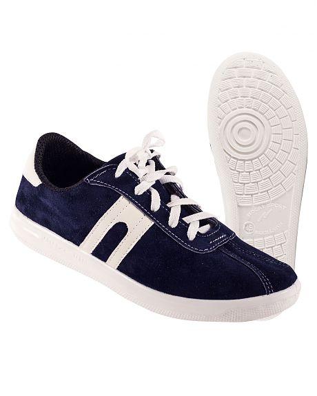 Кроссовки спилковые Люкс синие