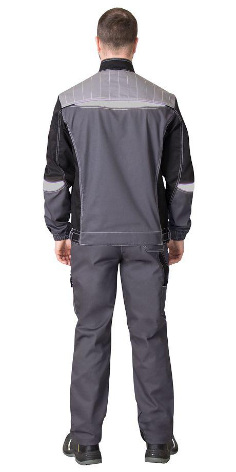 """Костюм """"СИРИУС-Фаворит-Мега"""" куртка, брюки.черный с серым.пл.245"""