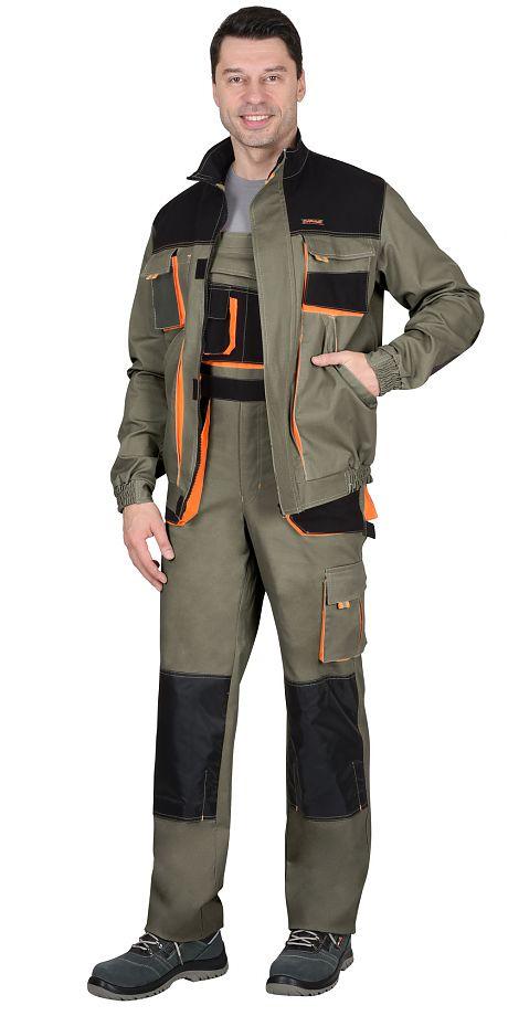 "Костюм ""СИРИУС-МАНХЕТТЕН"" куртка кор., п/к. оливковый.98% х/б,2% эластан.Плотность 245гр."