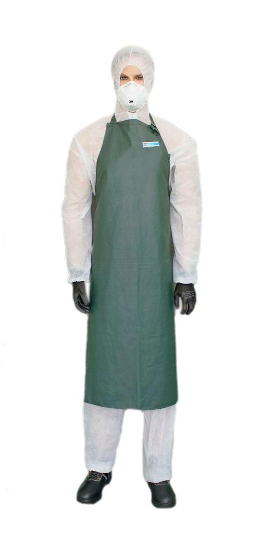 Фартук Chemical WPL оливковый, размер 120х97 см, ткань с ПВХ покрытием пл.480 гр/кв.м.