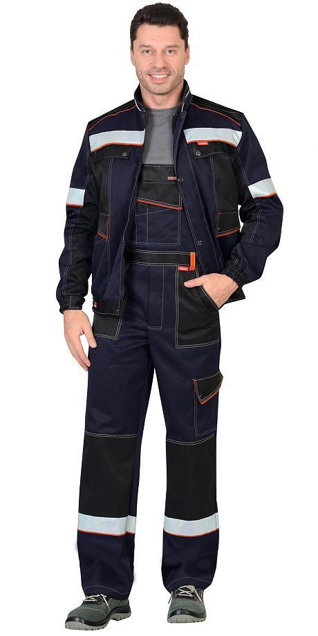 """Костюм """"СИРИУС-ПОЛИНОМ""""т. синий. куртка, полукомбинезон.пл.240 гр/м2"""