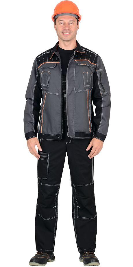 """Костюм """"СИРИУС-Престиж"""" куртка, полукомбинезон черный.пл.245 гр"""